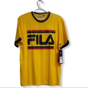 NWT Fila Yellow Tshirt